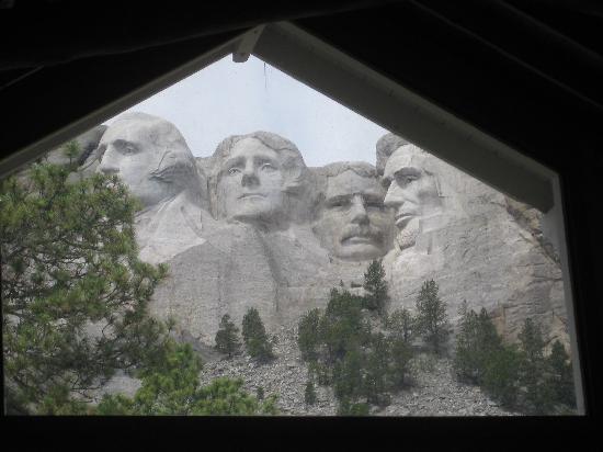 Mount Rushmore National Memorial: Mount Rushmore from the sculptor studio