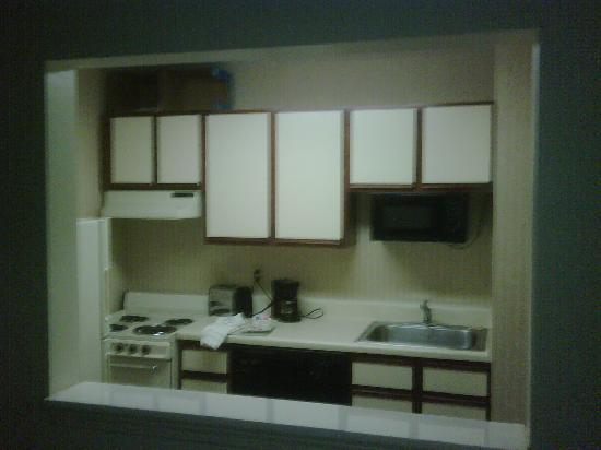 Extended Stay America - Atlanta - Peachtree Corners: Breakfast bar under kneewall