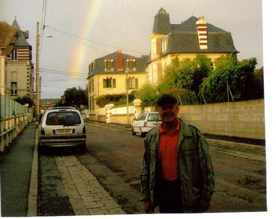 Rainbow over Cabourg while golfing