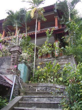 Grya Sari - the Bali Hot Springs Hotel: the top room was our suite, overlooking the river, jungle and coconut trees