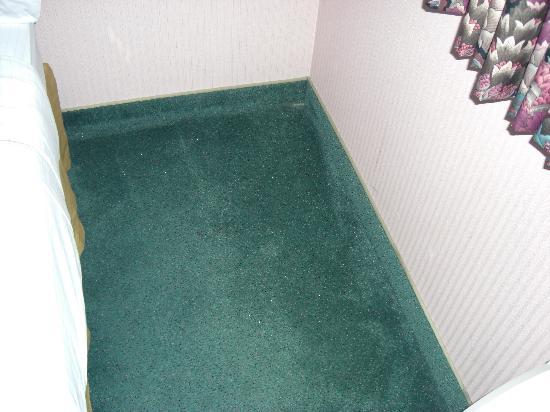 Holiday Inn Express Sault Ste. Marie: Schlecht geputzter Teppich