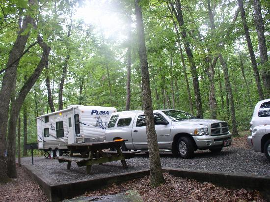 Cloudland Canyon State Park: Our camping site