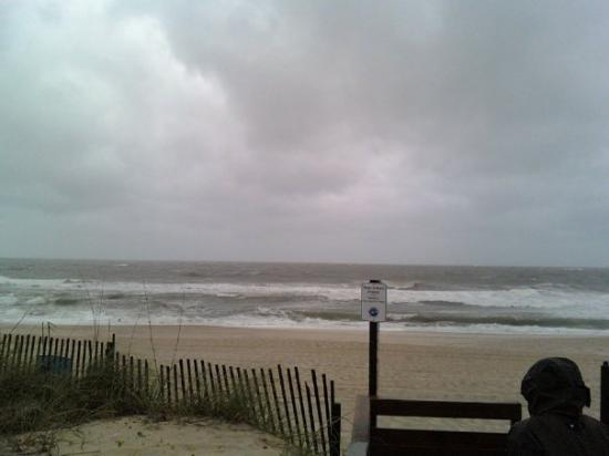 Carolina beach, first day there, dang cold rain!