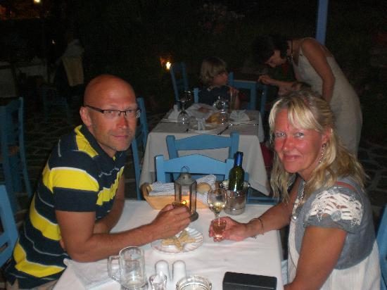Villa Marandi Luxury Suites: Romantic dinner in restaurant