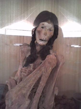 San Pedro de Atacama, Şili: Una momia de una niña atacameña