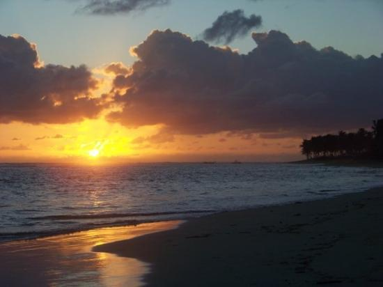 Punta Cana, Den Dominikanske Republik: Beach at sunrise