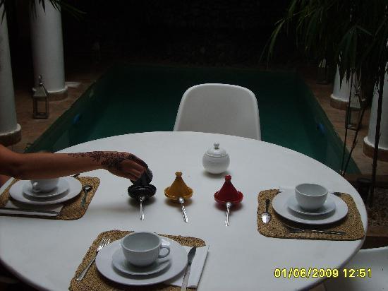 Riad L'Orchidee: Desayuno