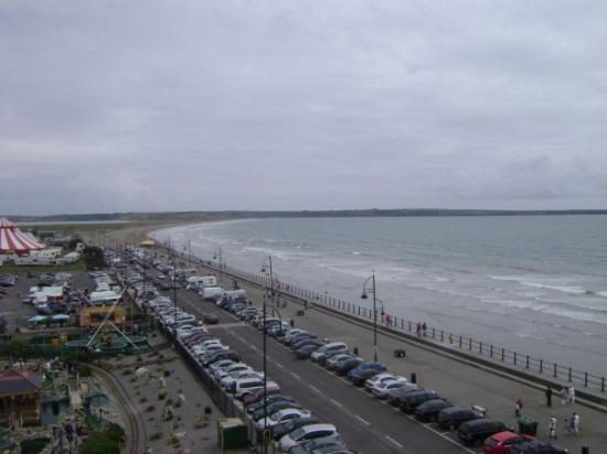 Tramore beach view from ferris wheel