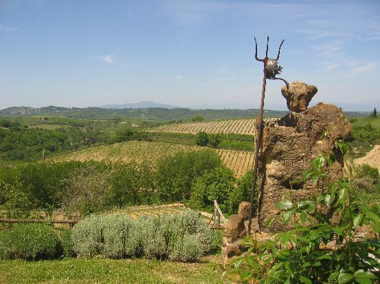 Agriturismo Poggio Pistolese: Poggio Pistolese - View from guest rooms