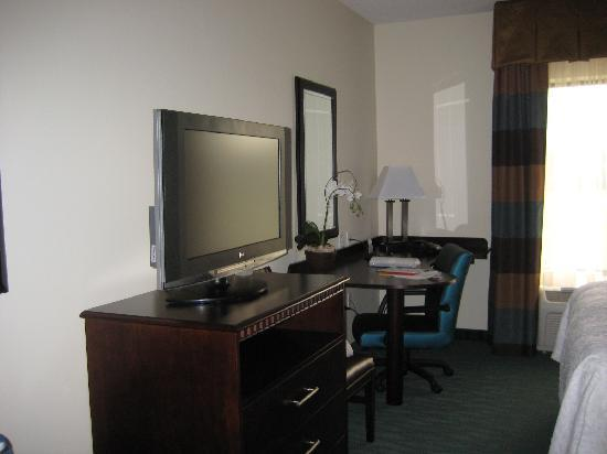 Hampton Inn & Suites Smithfield : TV & desk
