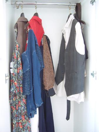 Latina, Italy: wardrobe space for 2 people
