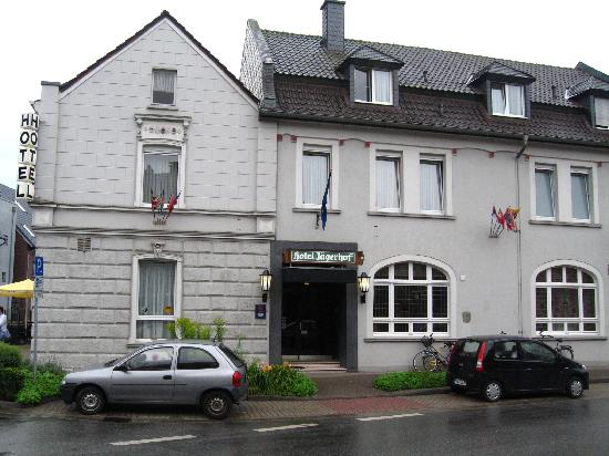 The front of the Hotel Jagerhof. Weeze.