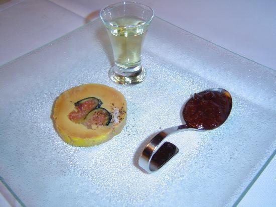 La Bertah: foie gras de canard confit aux figues de soliès