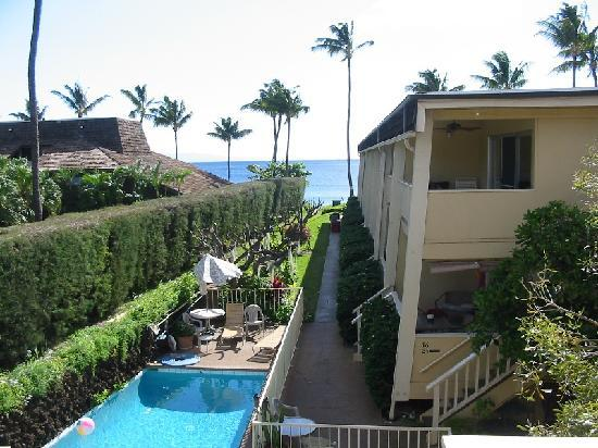 Kihei Kai Oceanfront Condos: View from unit 24