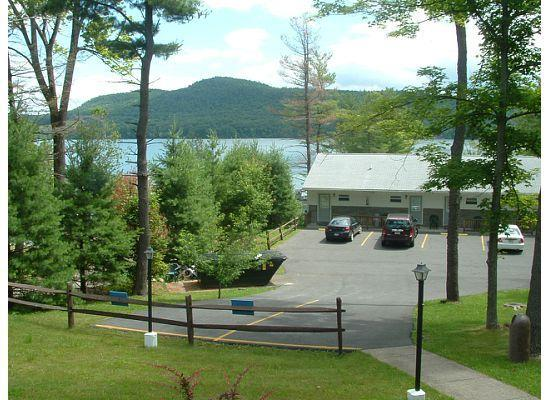 Lake N Pines Motel: View from Motel Room 35/36