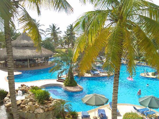 Isla Caribe Beach Hotel: vista de la piscina desde la habitación