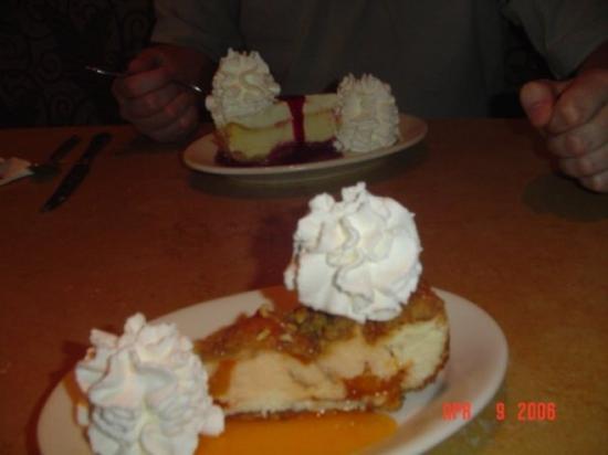 the cheesecake factory has too many good treats