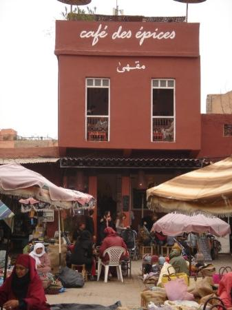 Market Outside Picture Of Cafe Des Epices Marrakech