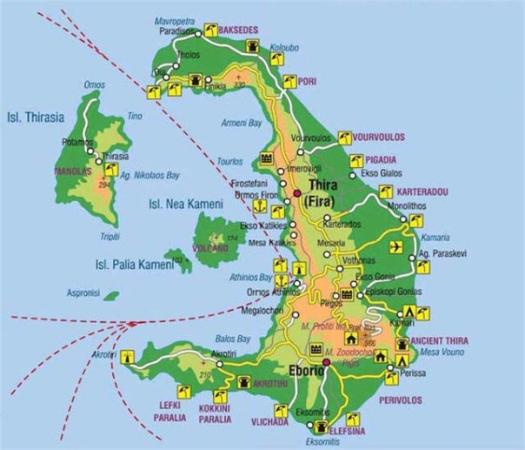 mapa grcke santorini Mapa Santorini   Picture of Santorini, Cyclades   TripAdvisor mapa grcke santorini