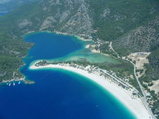 Olu Deniz from the air - taken by me from a microlite ...
