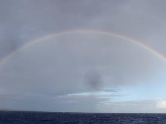 Holo Holo Charters: Rainbow after a short shower