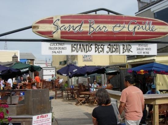 Sand Bar & Grille : Harbor front Oak Bluffs, MV