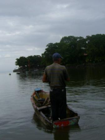 Islets of Granada: A local fisherman near the Isletas in Nicaragua
