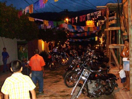 "Copán, Honduras: A ""Mini-Sturgis"" that was happening the week I was at Copans in Honduras with bikers coming in f"