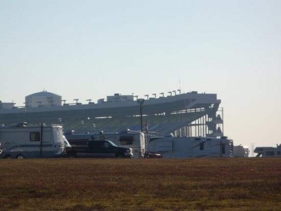 Grandstands from the infield picture of charlotte motor for Lowes motor speedway christmas lights