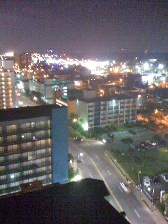 The Palms: 2cnd balcony at nite, Awesome view!