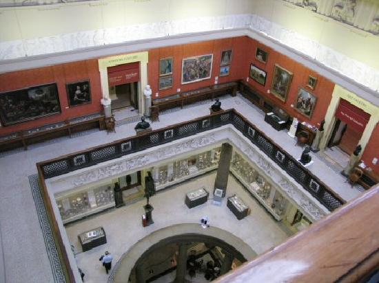 Harris Museum and Art Gallery: View from the Egyptian Balcony, Harris Museum & Art Gallery