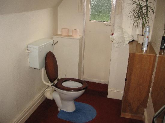 Awentsbury Hotel Birmingham: Toilet of shared bathrrom
