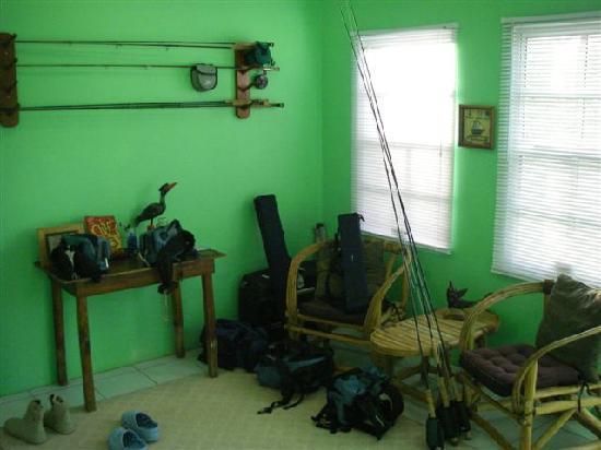 Fisherman Lodge: Fly fishing room