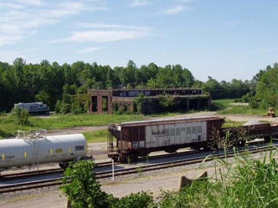 Railroad tracks and Roundhouse Bruceton, TN