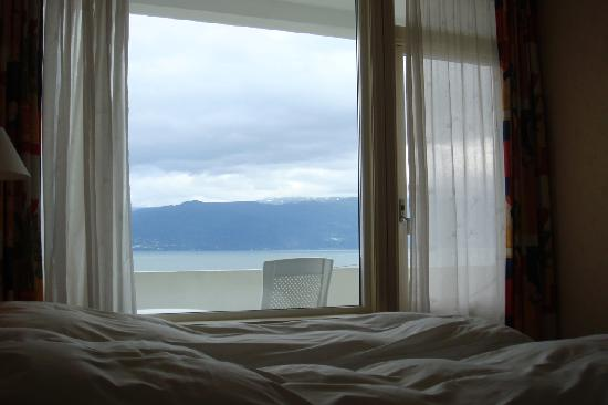 View from our room at the Balestrand Hotel.