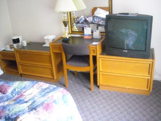 Howard Johnson Hotel - Nanaimo Harbourside: TV near the bed
