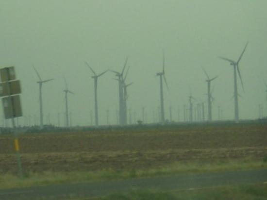 This is near Cisco.  Hundreds of windmills!