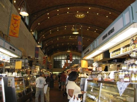 West Side Market: Here they had tons of fresh meats, cheese, olives, and just about anything else you would want f