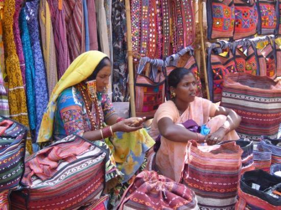 Canacona, Indien: Anjuna Fleamarket
