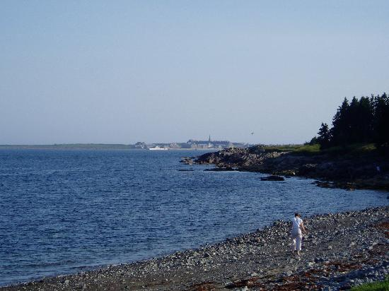 Point of View Suites at Louisbourg Gates: Fortress Louisbourg across the Bay