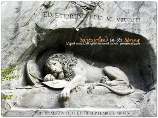 Monumento al león de Lucerna: Löwendenkmal อนุสรณ์สถานสิงโตร้องไห้ ถูกสร้างขึ้นเพื่ออะไรอัญเชิญอ่านใน wikipedia หรือ sources อ