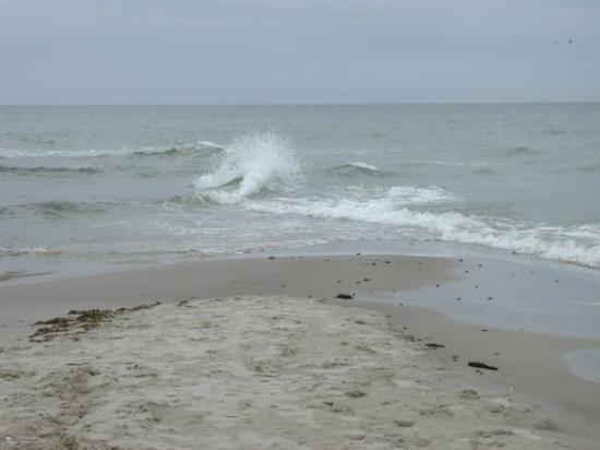 Grenen Skagen : Skagen, het punt waar de Oostzee en de Noordzee samenkomen.
