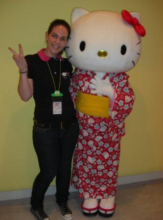 Tama, Japan: Yo con Kitty... hihi!!