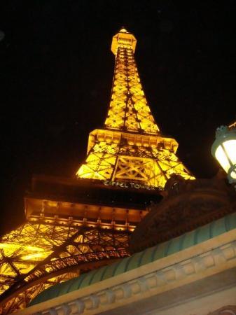 Eiffel Tower Restaurant at Paris Las Vegas: The Effiel tower from below