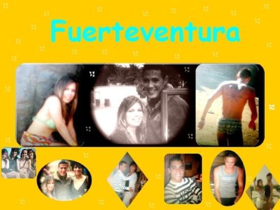 Fuerteventura, Espagne : Sandra , kenza , Audrey , Eros , Fernando , Moi .... NOUS ...