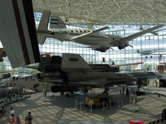 The Museum of Flight: A view of the museum floor and the SR-71