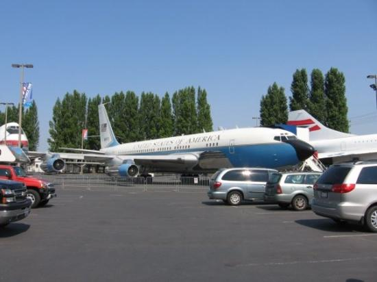 The Museum of Flight: The first Air Force One. Used by Eisenhower, Kennedy, Johnson, and Nixon as well as VIPs such as