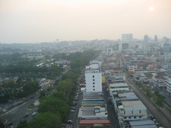 M Hotels: Sunset over Kuching (from 17th floor room)