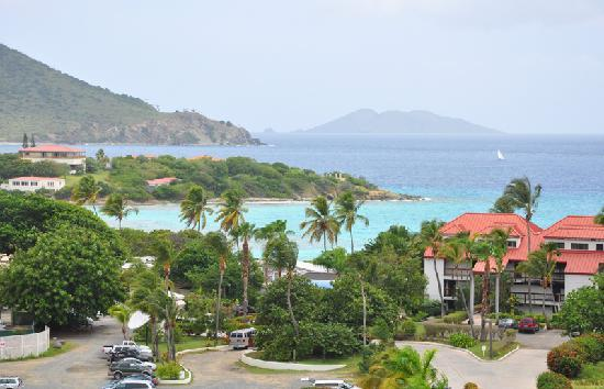 View of Sapphire Beach Resort from highway to Red Hook