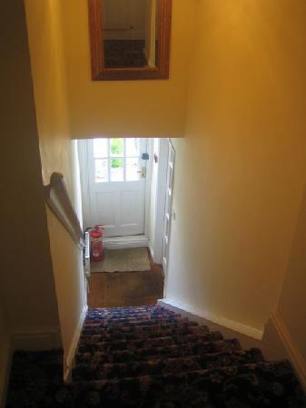The Castle Inn: Stairs to Guests Own Access to Rear of Inn